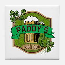 Paddy's Irish Pub Tile Coaster
