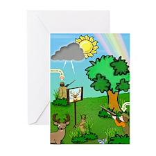 """""""Revenge of the Deer"""" Greeting Cards (Pk of 10"""