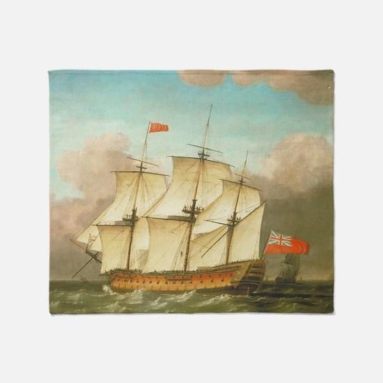 HMS Victory by Monamy Swaine Throw Blanket