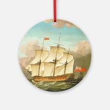 HMS Victory by Monamy Swaine Round Ornament