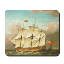 HMS Victory by Monamy Swaine Mousepad