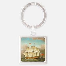 HMS Victory by Monamy Swaine Square Keychain