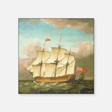 "HMS Victory by Monamy Swain Square Sticker 3"" x 3"""