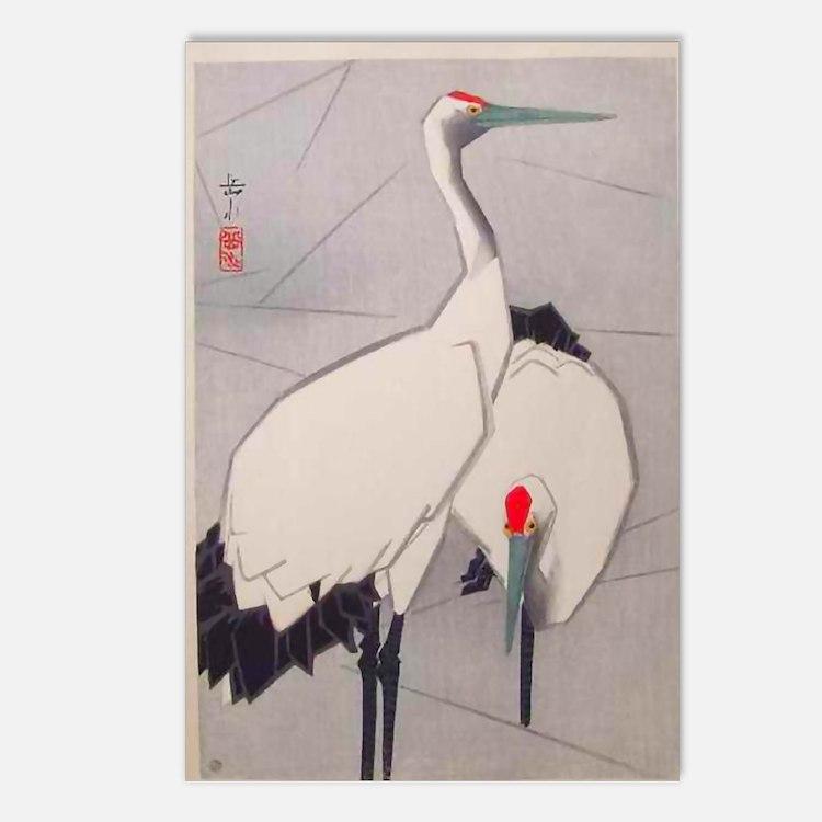 Big Birds Japanese Vintag Postcards (Package of 8)