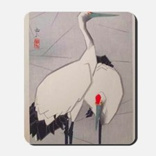 Big Birds Japanese Vintage Art Mousepad