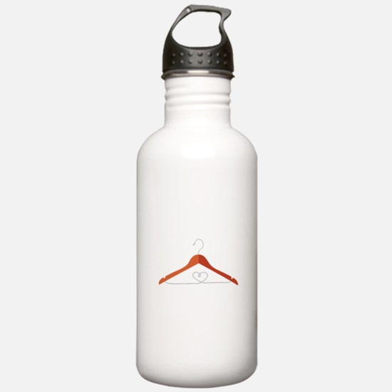 Love Clothes Hanger Water Bottle