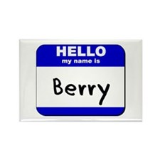 hello my name is berry Rectangle Magnet