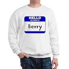 hello my name is berry Sweatshirt