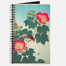 Floral  Bird Japanese Motif Journal
