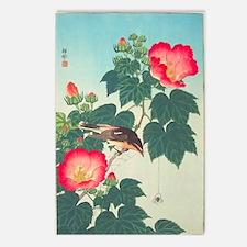 Floral  Bird Japanese Mot Postcards (Package of 8)