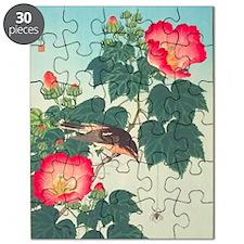 Floral  Bird Japanese Motif Puzzle