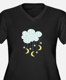 Hanging Moon Stars Plus Size T-Shirt