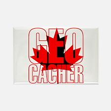 Maple Leaf Geocacher Rectangle Magnet