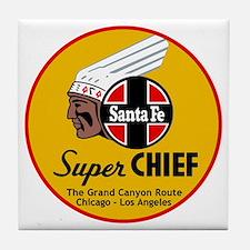 Santa Fe Super Chief1 Tile Coaster