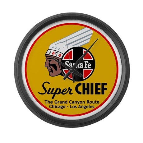 Santa Fe Super Chief1 Large Wall Clock