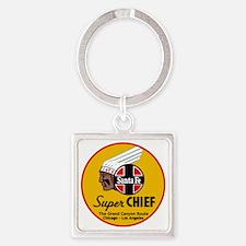Santa Fe Super Chief1 Square Keychain