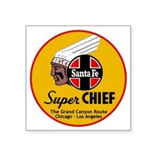 "Santa Fe Super Chief1 Square Sticker 3"" x 3"""