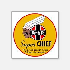 """Santa Fe Super Chief1 Square Sticker 3"""" x 3"""""""