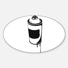 Spray Can Oval Decal