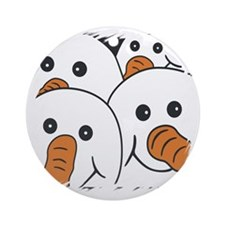 Gang of Four Snowmen New Design Round Ornament