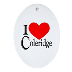 I Love Coleridge Oval Ornament