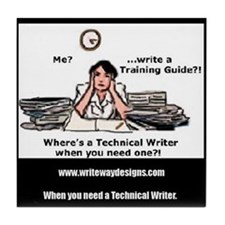 Technical Writer Tile Coaster