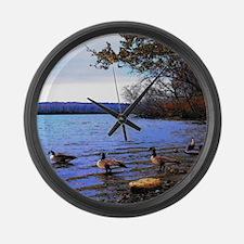 Autumn Lake Large Wall Clock