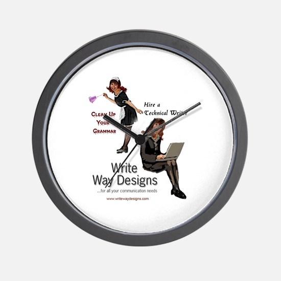Clean Up Your Grammar Wall Clock