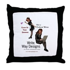 Clean Up Your Grammar Throw Pillow