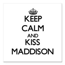 "Keep Calm and kiss Maddison Square Car Magnet 3"" x"