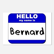 hello my name is bernard  Postcards (Package of 8)