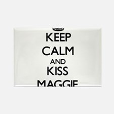 Keep Calm and kiss Maggie Magnets
