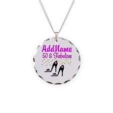 50TH SHOE QUEEN Necklace Circle Charm