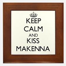 Keep Calm and kiss Makenna Framed Tile