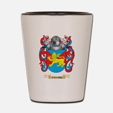 Young English Family Crest (Coat of Arm Shot Glass