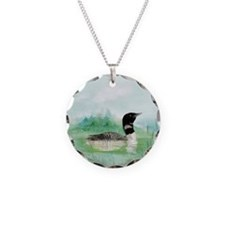 Watercolor Loon Wilderness L Necklace