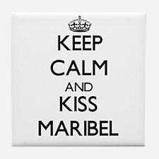 Keep Calm and kiss Maribel Tile Coaster