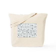 White 3D Blocks Tote Bag