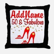 FANTASTIC 50TH Throw Pillow