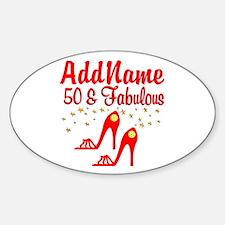 FANTASTIC 50TH Sticker (Oval)
