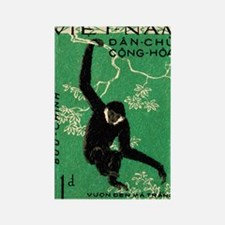 Vintage 1961 Vietnam Gibbon Posta Rectangle Magnet
