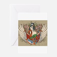 Asian Beauty Greeting Cards