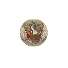 Asian Beauty Mini Button (10 pack)