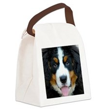 Bernese Mountain Dog Puppy 2 Canvas Lunch Bag