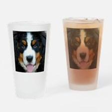 Bernese Mountain Dog Puppy 2 Drinking Glass