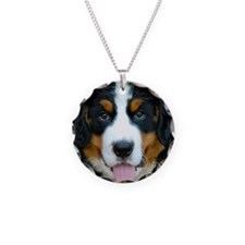 Bernese Mountain Dog Puppy 2 Necklace