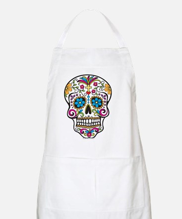 Day of The Dead Sugar Skull, Halloween Apron