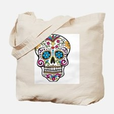 Day of The Dead Sugar Skull, Halloween Tote Bag