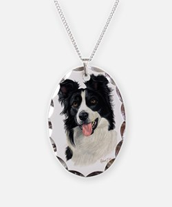 Border Collie Head Necklace