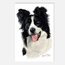 Border Collie Head Postcards (Package of 8)